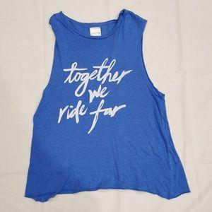 Peloton | Together We Ride Far Blue Tank Top